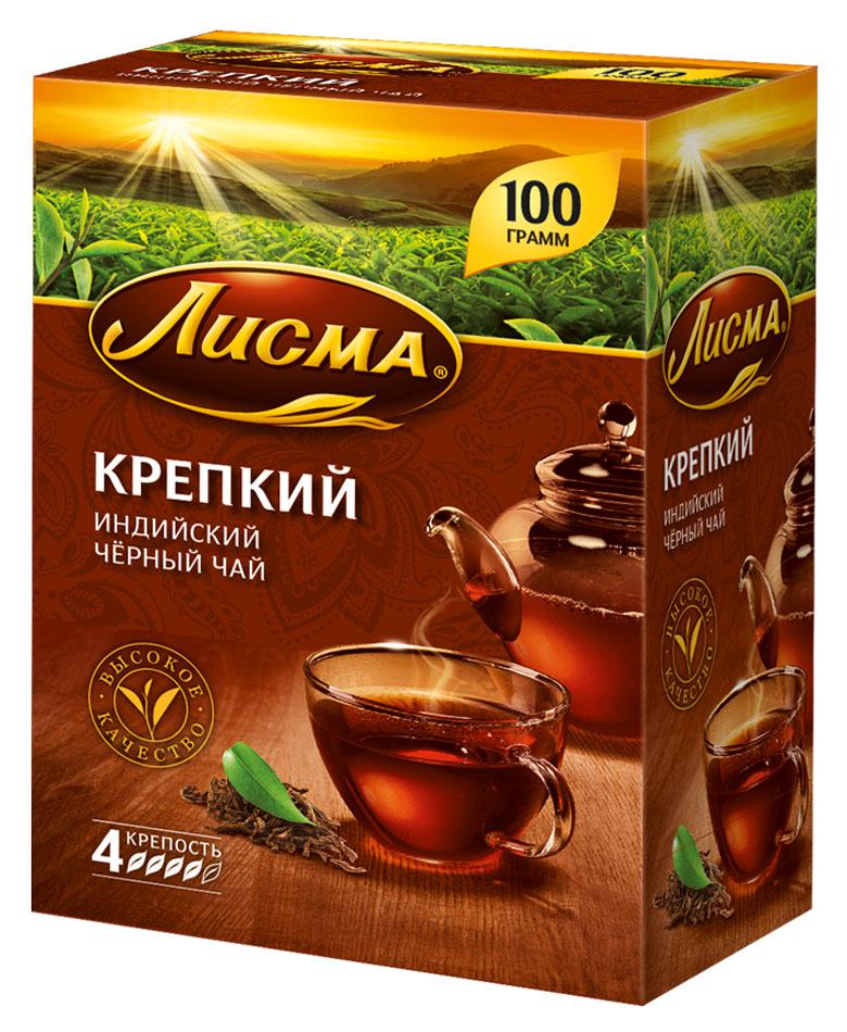 Лисма Крепкий черный листовой чай, 100 г201935Лисма Крепкий - индийский черный байховый чай. Ощутите крепость легендарного чайного листа!Уважаемые клиенты! Обращаем ваше внимание на то, что упаковка может иметь несколько видов дизайна. Поставка осуществляется в зависимости от наличия на складе.