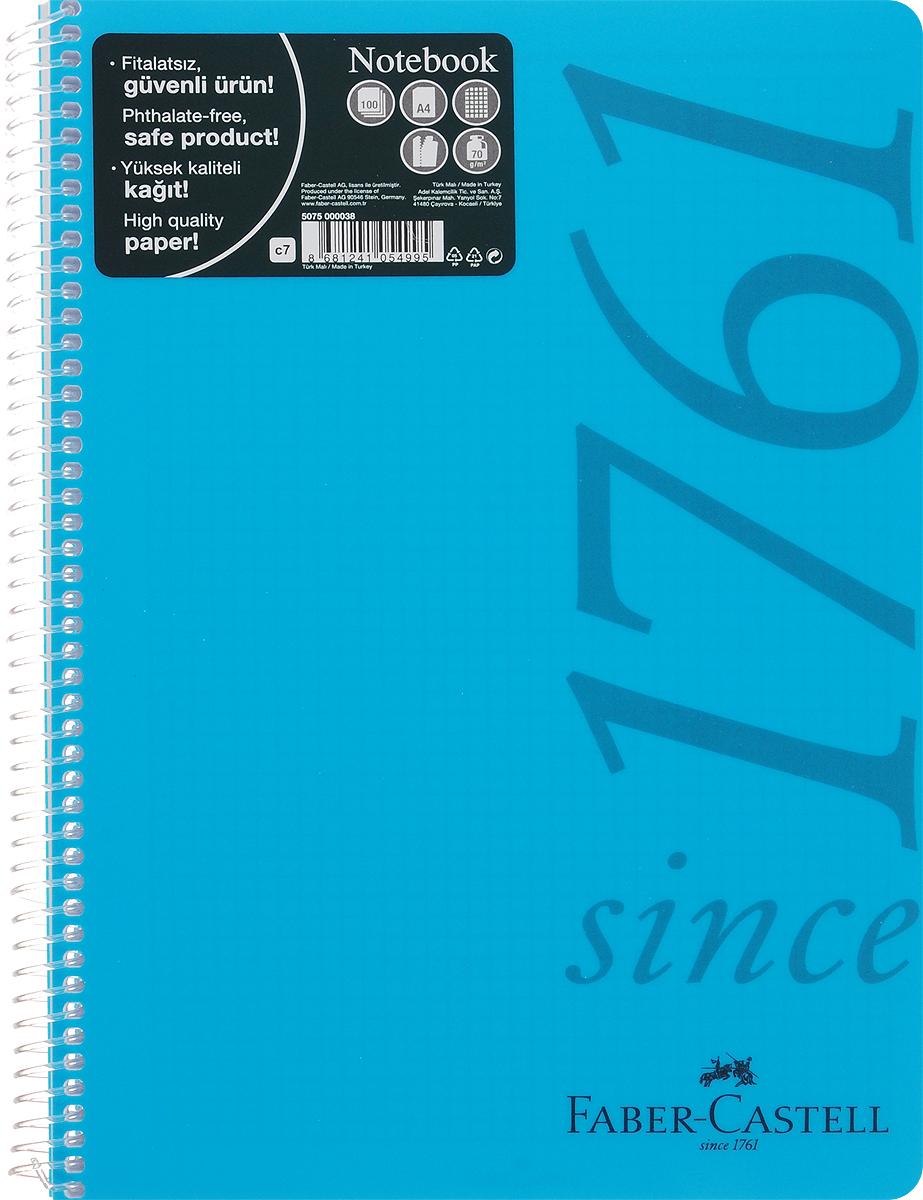 Faber-Castell Блокнот Since 1761 100 листов в клетку цвет голубой507038_голубойFaber-Castell Блокнот Since 1761 100 листов в клетку цвет голубой