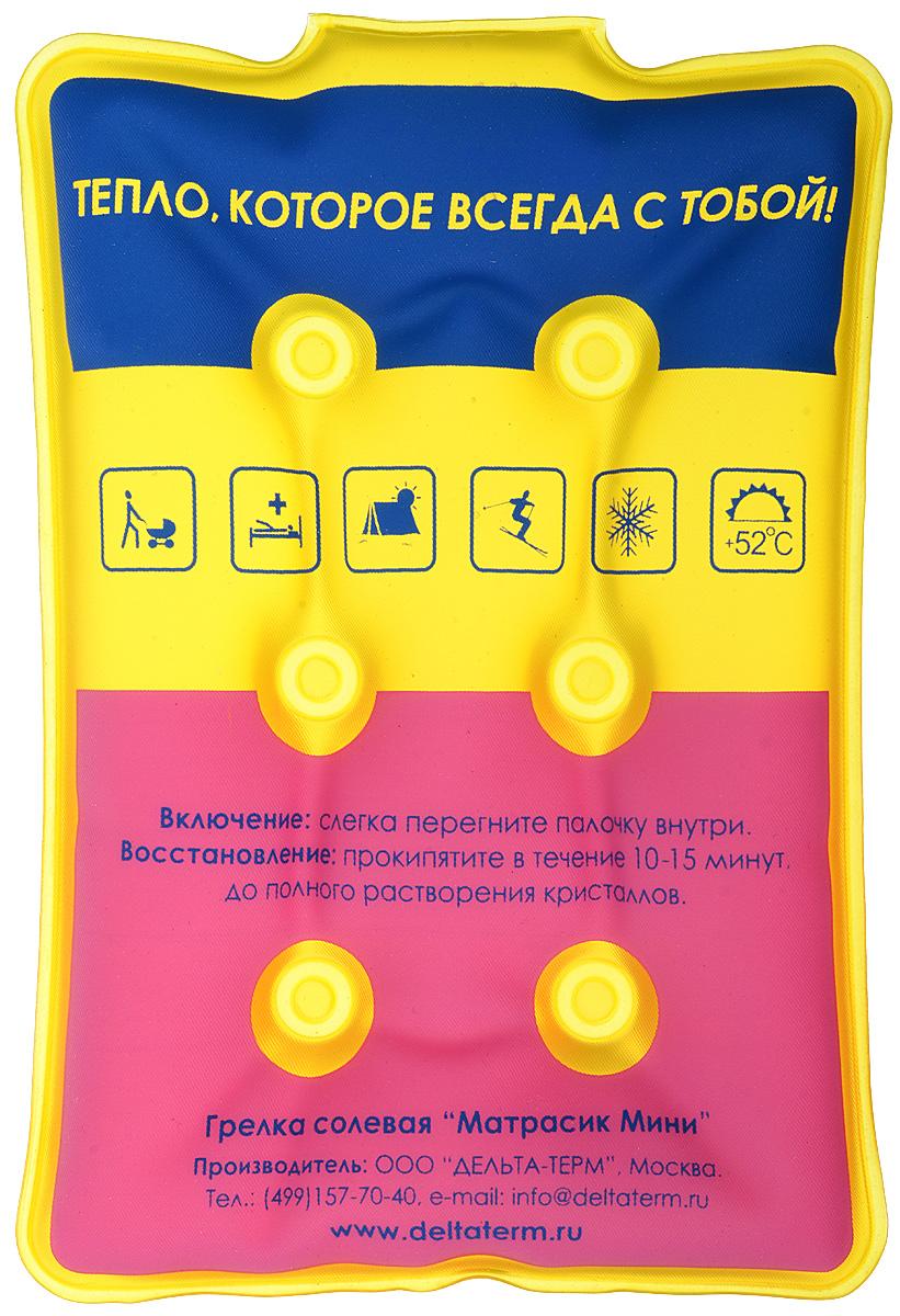 Грелка солевая Дельтатерм Матрасик мини, цвет: голубой, желтый, фиолетовый00-00000212_голубой, желтый, фиолетовыйГрелка солевая Дельтатерм Матрасик мини, цвет: голубой, желтый, фиолетовый