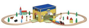 Купить Деревянная железная дорога 46 деталей BALBI WT-024 - детские товары Balbi в интернет-магазине OZON.ru, цена деревянная железная дорога 46 деталей balbi wt-024.