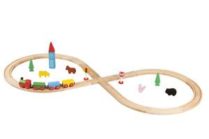 Купить Деревянная железная дорога 32 детали BALBI WT-052 - детские товары Balbi в интернет-магазине OZON.ru, цена деревянная железная дорога 32 детали balbi wt-052.