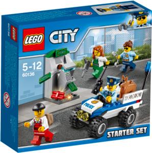 Купить LEGO City Конструктор Полиция Стартовый набор 60136 - детские товары LEGO в интернет-магазине OZON.ru, цена lego city конструктор полиция стартовый набор 60136