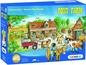 Настольная игра Ферма пони. Напольный пазл
