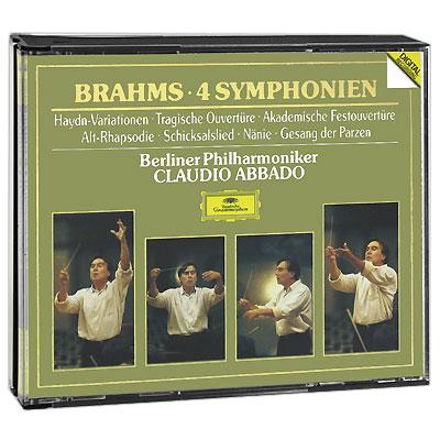 Claudio Abbado.  Brahms.  4 Symphonien U. A.  (4 CD) Deutsche Grammophon GmbH,ООО