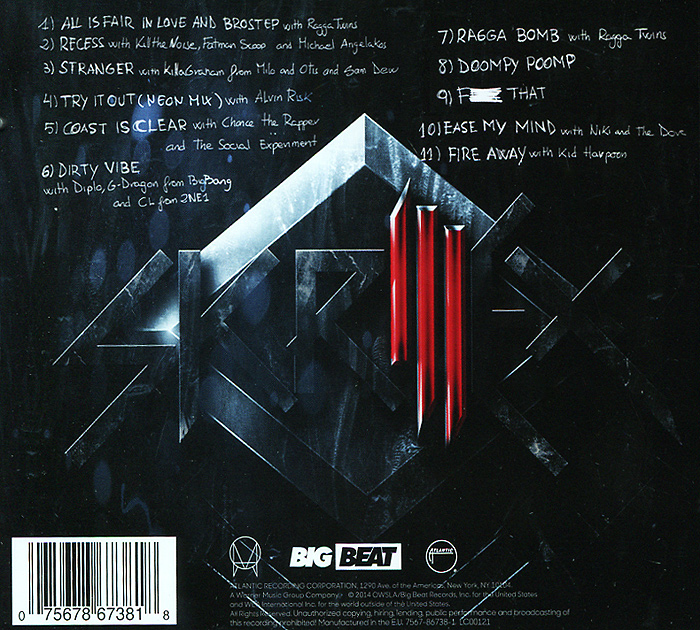 Skrillex.  Recess Atlantic Records,Warner Music