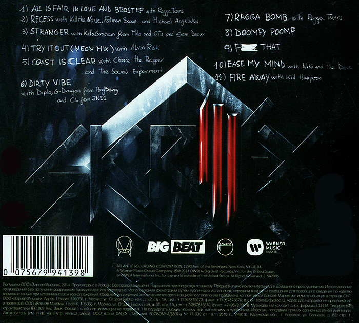 Skrillex.  Recess Atlantic Records,Warner Music