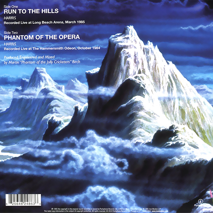 Iron Maiden.  Run to the Hills (live) (LP) Warner Music,Parlophone