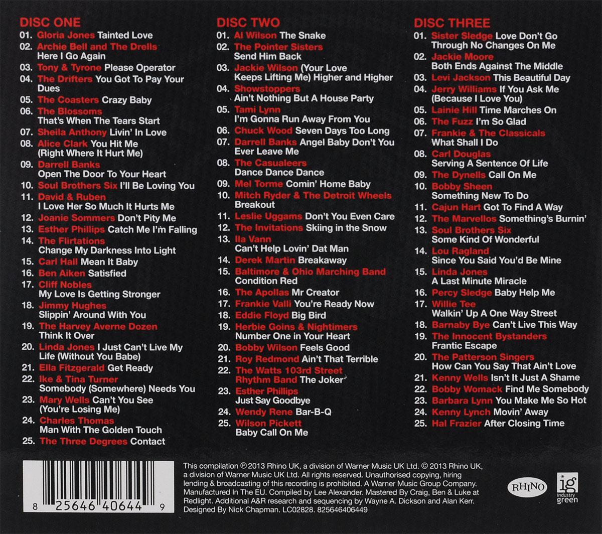 Northern Soul.  The Collection (3 CD) Warner Music,Rhino
