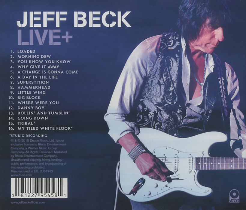 Jeff Beck.  Live + Warner Music,Deuce Music, Ltd