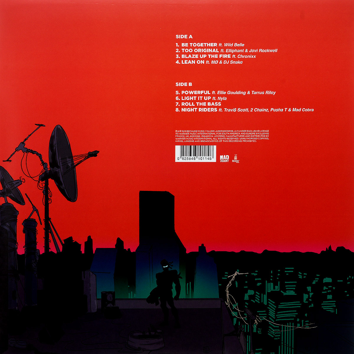 Major Lazer.  Peace Is The Mission (LP + CD) Warner Music,Because Music