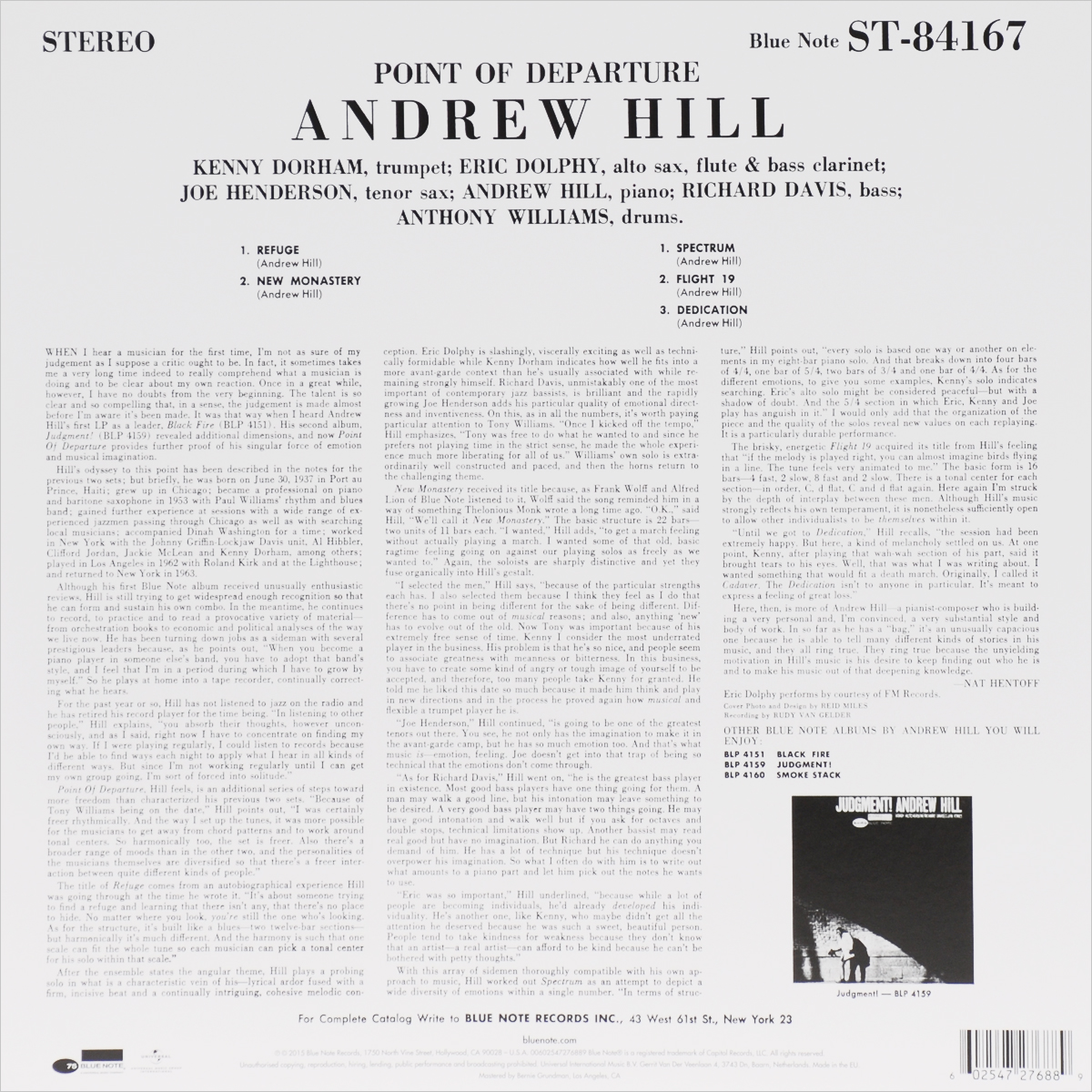Andrew Hill.  Point Of Departure (LP) ООО