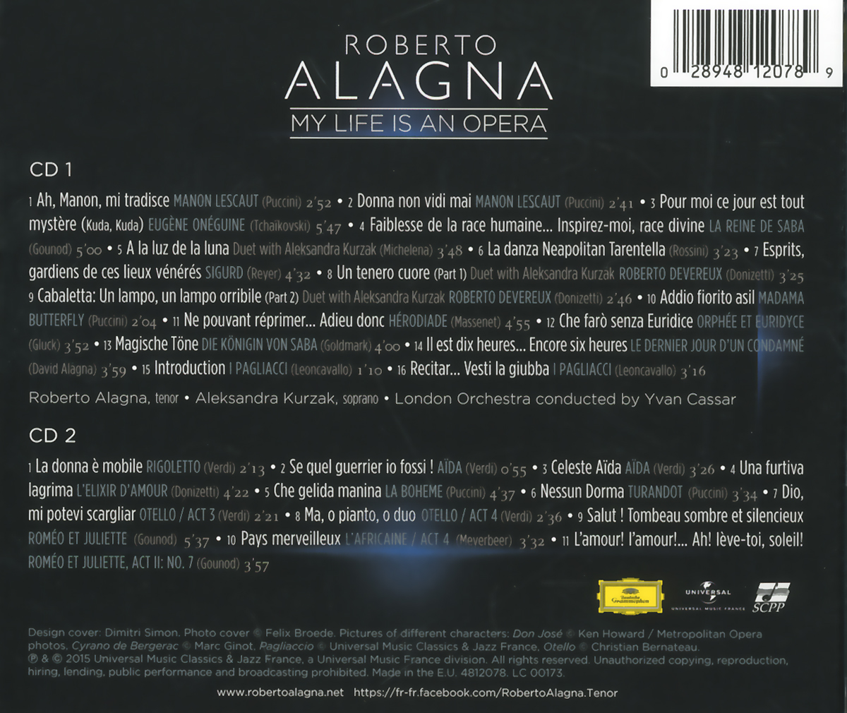 Roberto Alagna.  My Life Is An Opera (2 CD) ООО