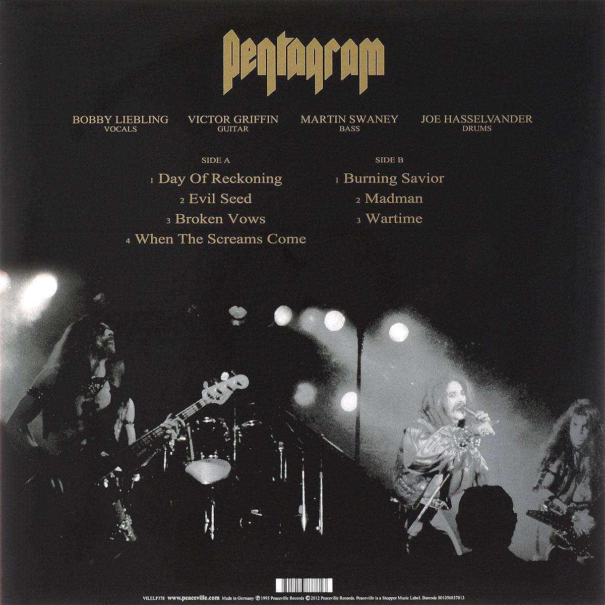 Pentagram.  Day Of Reckoning (LP) Peaceville Records