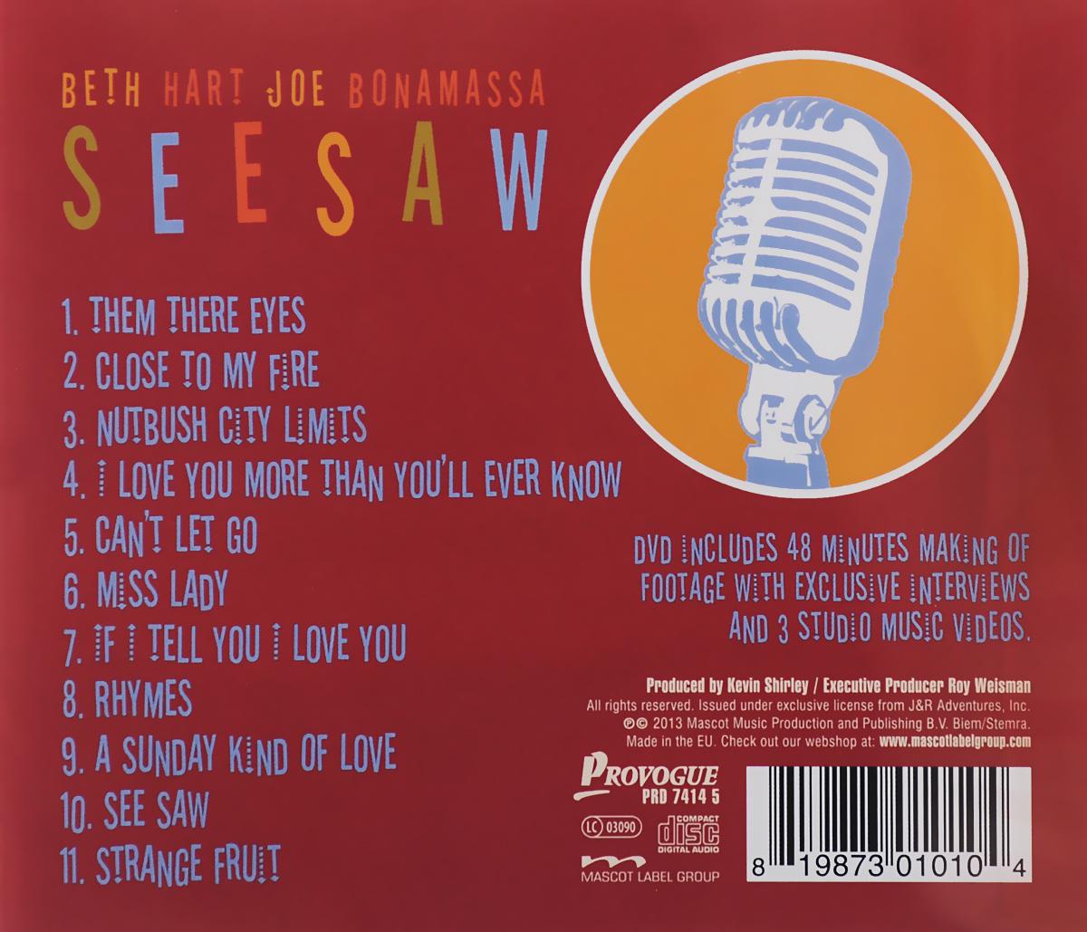 Beth Hart, Joe Bonamassa.  Seesaw (CD+DVD) Mascot Records