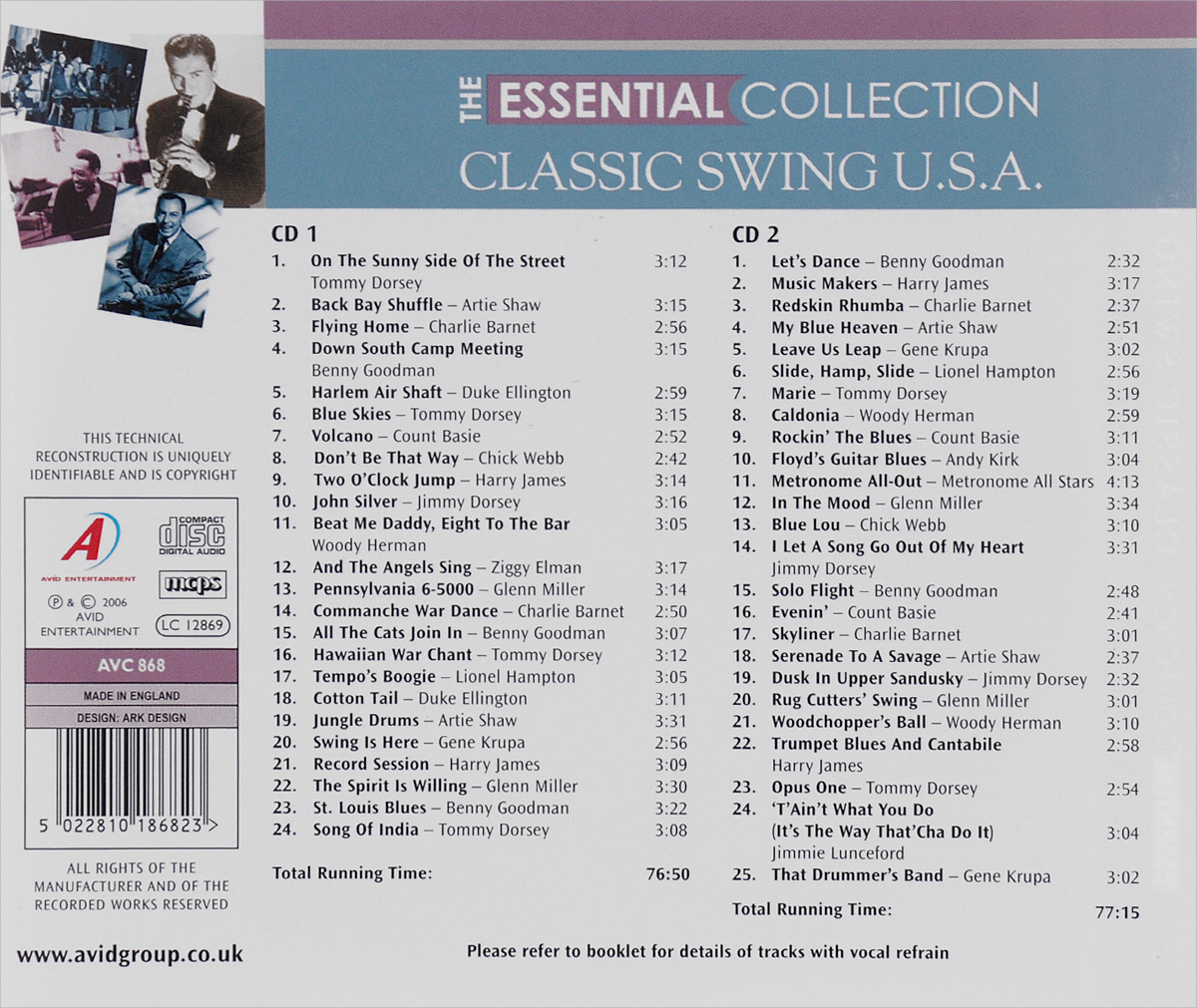 The Essential Collection.  Classic Swing U. S. A.  (2 CD) Волтэкс-инвест,Avid Entertainment