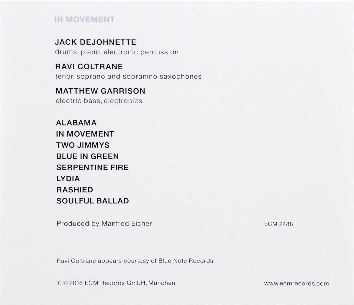 Jack Dejohnette.  In Movement ECM Records,Warner Music