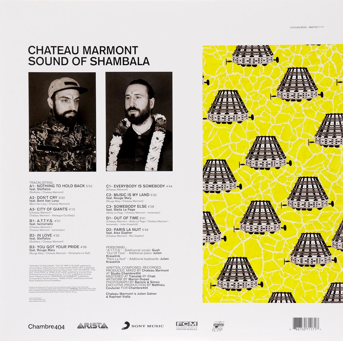 Chateau Marmont.  Sound Of Shambala (2 LP) Warner Music,Chambre404