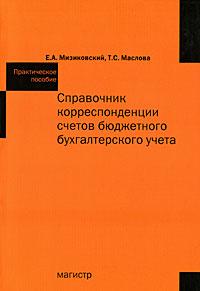 Справочник корреспонденции счетов бюджетного бухгалтерского учета