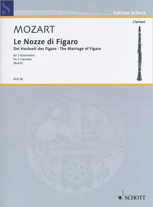 Wolfgang Amadeus Mozart Wolfgang Amadeus Mozart: Le Nozze di Figaro for 2 Clarinets wolfgang amadeus mozart eine kleine nachtmusik cd