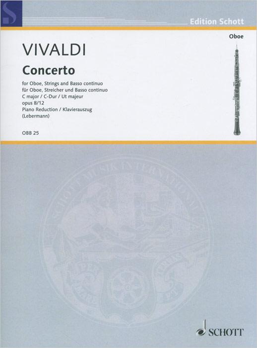 Antonio Vivaldi Antonio Vivaldi: Concerto C Major for Oboe, String and Basso Continuo c p smith on playing oboe recorder flage paper only