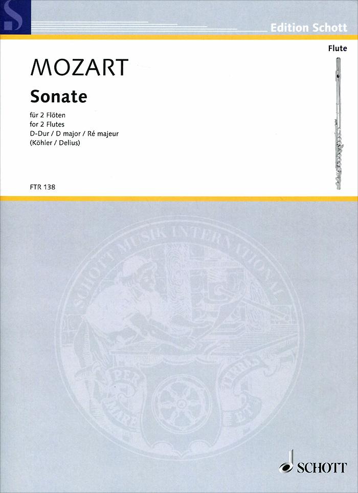 Wolfgang Amadeus Mozart Wolfgang Amadeus Mozart: Sonata D Major for 2 Flutes wolfgang amadeus mozart eine kleine nachtmusik cd