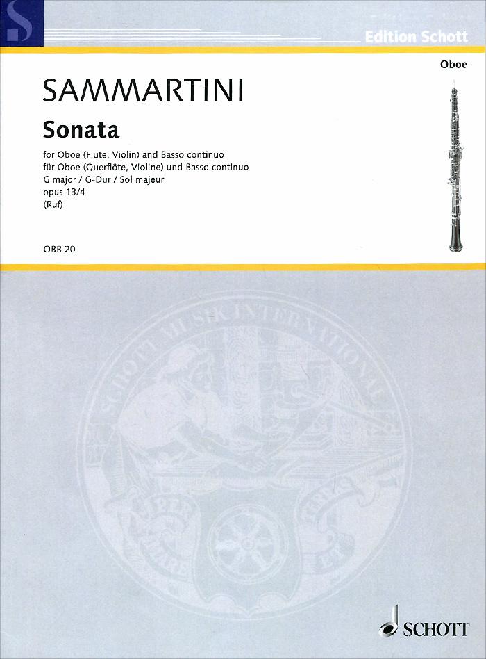 Giovanni Battista Sammartini Sammartini: Sonata G Major for Oboe (Flute, Violin) and Basso Continuo