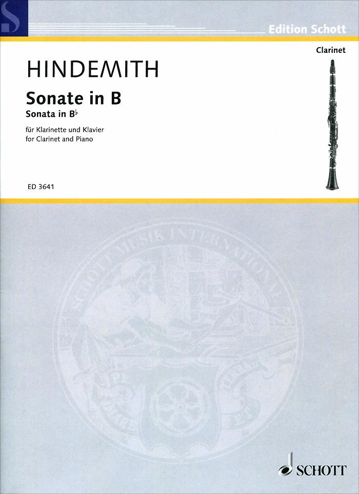 Paul Hindemith Hindemith: Sonate in B fur klarinette und klavier
