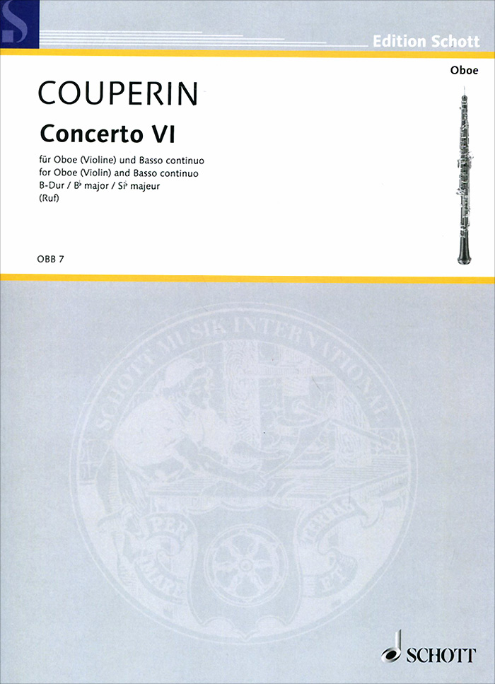Francois Couperin Francois Couperin: Concerto VI Bb Major for Oboe (Violin) and Basso Continuo