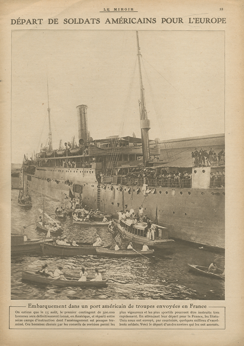 Скачать Le Miroir (Зеркало), N189, июль 1917 быстро