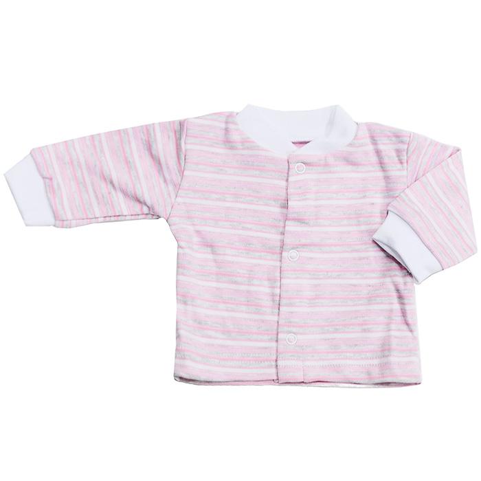 Кофточка Фреш Стайл, цвет: розовый. 39-201. Размер 56, 0 месяцев39-201Детская кофточка Фреш Стайл с длинными рукавами идеально подойдет вашему малышу. Изготовленная изнатурального хлопка, она необычайно мягкая и приятная на ощупь, не раздражает нежную кожу ребенка и хорошо вентилируется, а эластичные швы приятны телу малыша и не препятствуют его движениям. Кофточка с небольшим воротником-стойкой застегивается по всей длине на кнопочки, которые позволяют без труда переодеть ребенка. Низ рукавов дополнен эластичными манжетами, не сжимающими запястье малыша.Оригинальный дизайн и яркая расцветка делают эту кофточку модным и стильным предметом детского гардероба. В ней вашему малышу всегда будет комфортно и уютно.