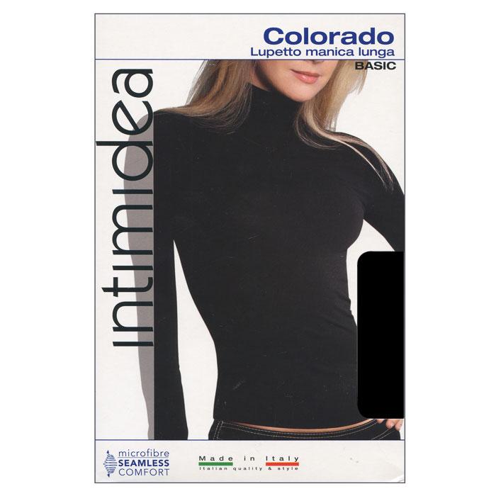 Водолазка женская Intimidea Colorado, цвет: черный (Nero). Размер L/XLT-Shirt Colorado NeroЖенская водолазка Colorado с длинным рукавом и воротником-стойкой выполнена из микрофибры, она очень мягкая на ощупь, не раздражает даже самую нежную и чувствительную кожу.Водолазка очень удобна в использовании, ее можно носить как с брюками, так и с юбкой. Отличный вариант для повседневной носки!