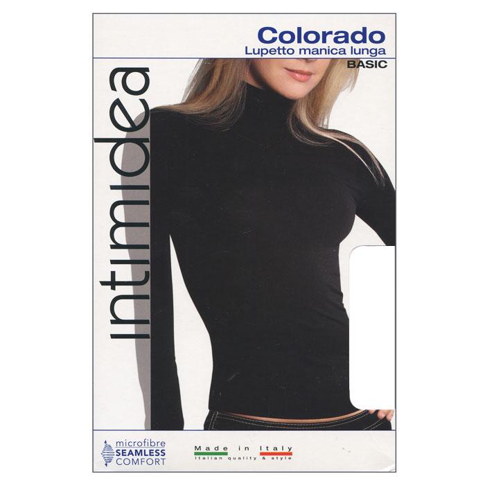 Водолазка женская Intimidea Colorado, цвет: белый (Bianco). Размер L/XLT-Shirt Colorado BiancoЖенская водолазка Colorado с длинным рукавом и воротником-стойкой выполнена из микрофибры, она очень мягкая на ощупь, не раздражает даже самую нежную и чувствительную кожу.Водолазка очень удобна в использовании, ее можно носить как с брюками, так и с юбкой. Отличный вариант для повседневной носки!