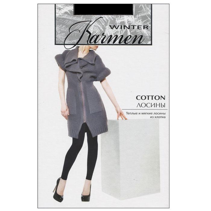 Лосины Karmen Winter Cotton, цвет: черный (Nero). Размер 3K-Cotton NeroТеплые и мягкие лосины из хлопка. Идеально облегают фигуру и обеспечивают надежную защиту от холода.