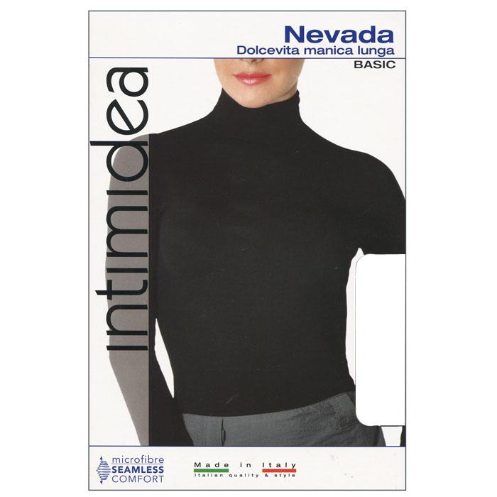 Водолазка женская Intimidea Nevada, цвет: белый (Bianco). Размер L/XLIN-T-Shirt Nevada BiancoЖенская водолазка Nevada с длинным рукавом выполнена из микрофибры, она очень мягкая на ощупь, не раздражает даже самую нежную и чувствительную кожу.Водолазка очень удобна в использовании, ее можно носить как с брюками, так и с юбкой. Отличный вариант для повседневной носки!