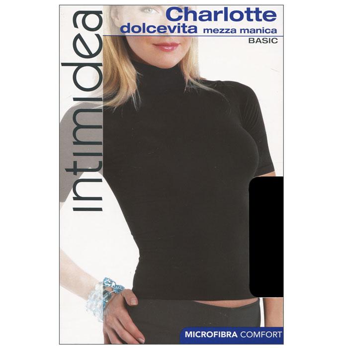 Водолазка с коротким рукавом женская Intimidea Charlotte, цвет: черный (Nero). Размер S/MT-Shirt Barcellona NeroЖенская водолазка Charlotte с коротким рукавом и воротником-стойкой выполнена из микрофибры, она очень мягкая на ощупь, не раздражает даже самую нежную и чувствительную кожу.Водолазка очень удобна в использовании, ее можно носить как с брюками, так и с юбкой. Отличный вариант для повседневной носки!