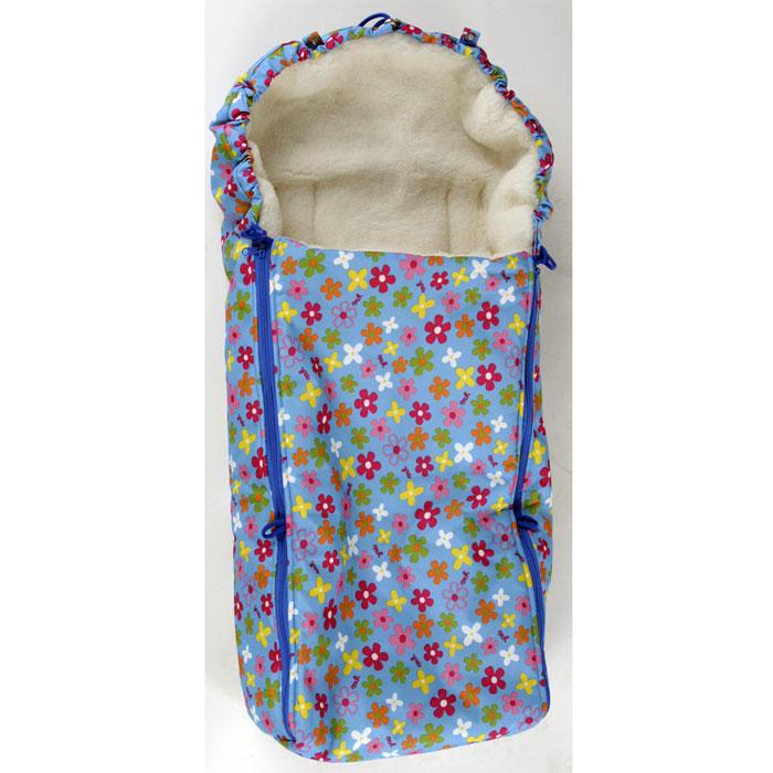 Конверт в коляску Чудо-Чадо, цвет: голубой с рисунком. ККМ_10-001. Размер универсальный