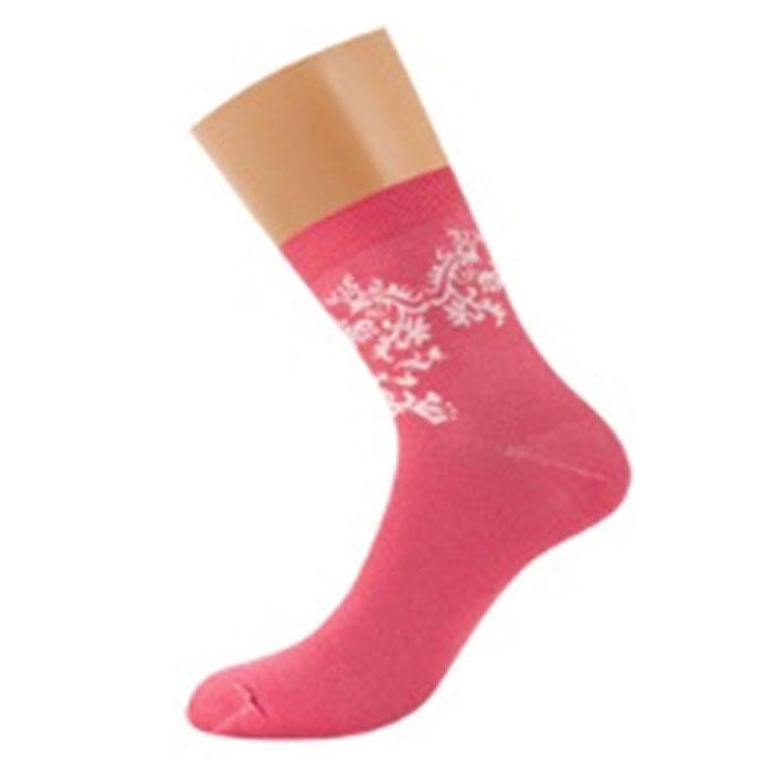 Носки женские Griff Орнамент, цвет: розовый. D28. Размер 35/38