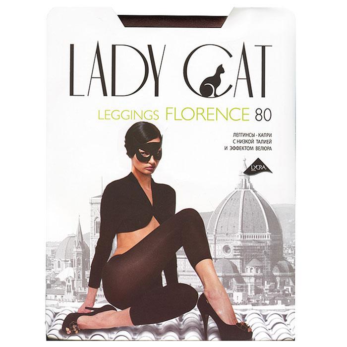 Леггинсы-капри Lady Cat Florence 80, цвет: антрацит. Размер 2