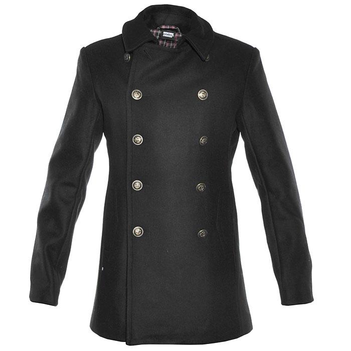 Пальто мужское Dr. Denim Jeansmakers, цвет: черный. 0941102. Размер M (46)0941102Мужское укороченное пальто из шерсти и полиэстера на пуговицах станет отличным дополнением к гардеробу современного мужчины.Такая модель обеспечит Вам не только красивый внешний вид и комфорт, но и дополнительную защиту от холода и ветра.