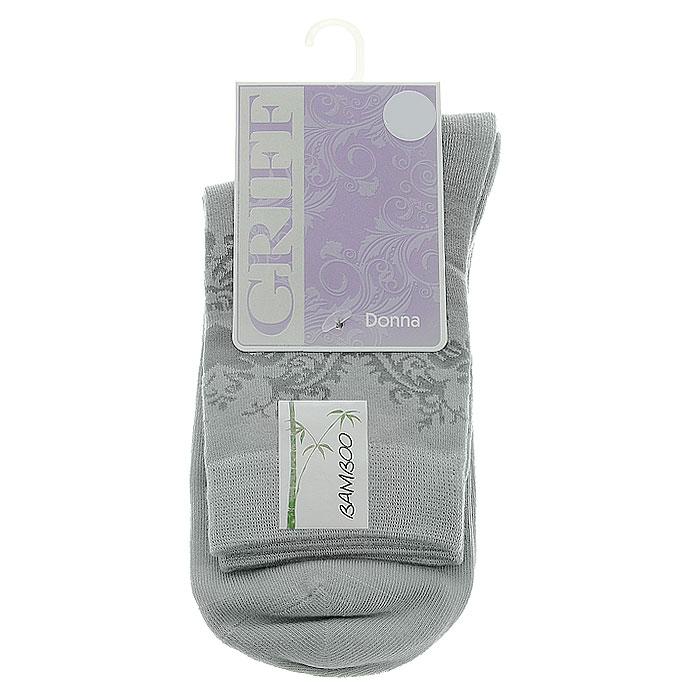 Носки женские Griff Орнамент, цвет: светло-серый. D28. Размер 39/41