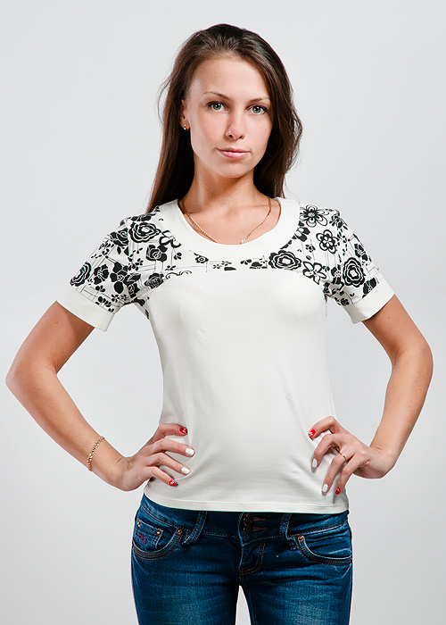 Футболка женская Lowry, цвет: шампань. LF-225. Размер S (42/44)LF-225Стильная женская классическая футболка с короткими рукавами, изготовленная из хлопка с добавлением лайкры, прекрасно подойдет для любого типа фигуры.Такая замечательная футболка станет как отличным украшением гардероба, так и восхитительным подарком. В ней вы всегда будет в центре внимания!