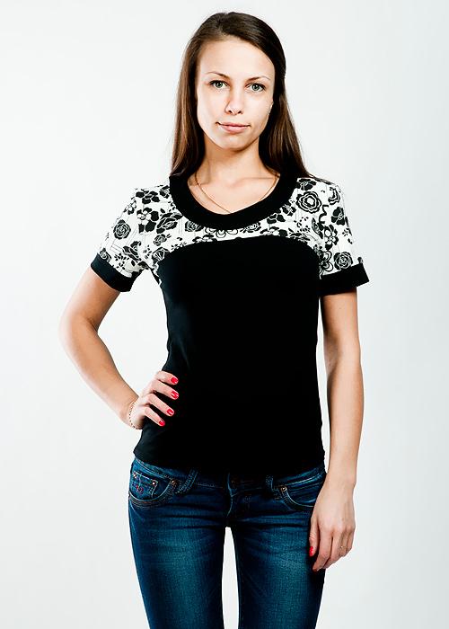 Футболка женская Lowry, цвет: черный. LF-225. Размер XXL (50/52)LF-225Стильная женская классическая футболка с короткими рукавами, изготовленная из хлопка с добавлением лайкры, прекрасно подойдет для любого типа фигуры.Такая замечательная футболка станет как отличным украшением гардероба, так и восхитительным подарком. В ней вы всегда будет в центре внимания!