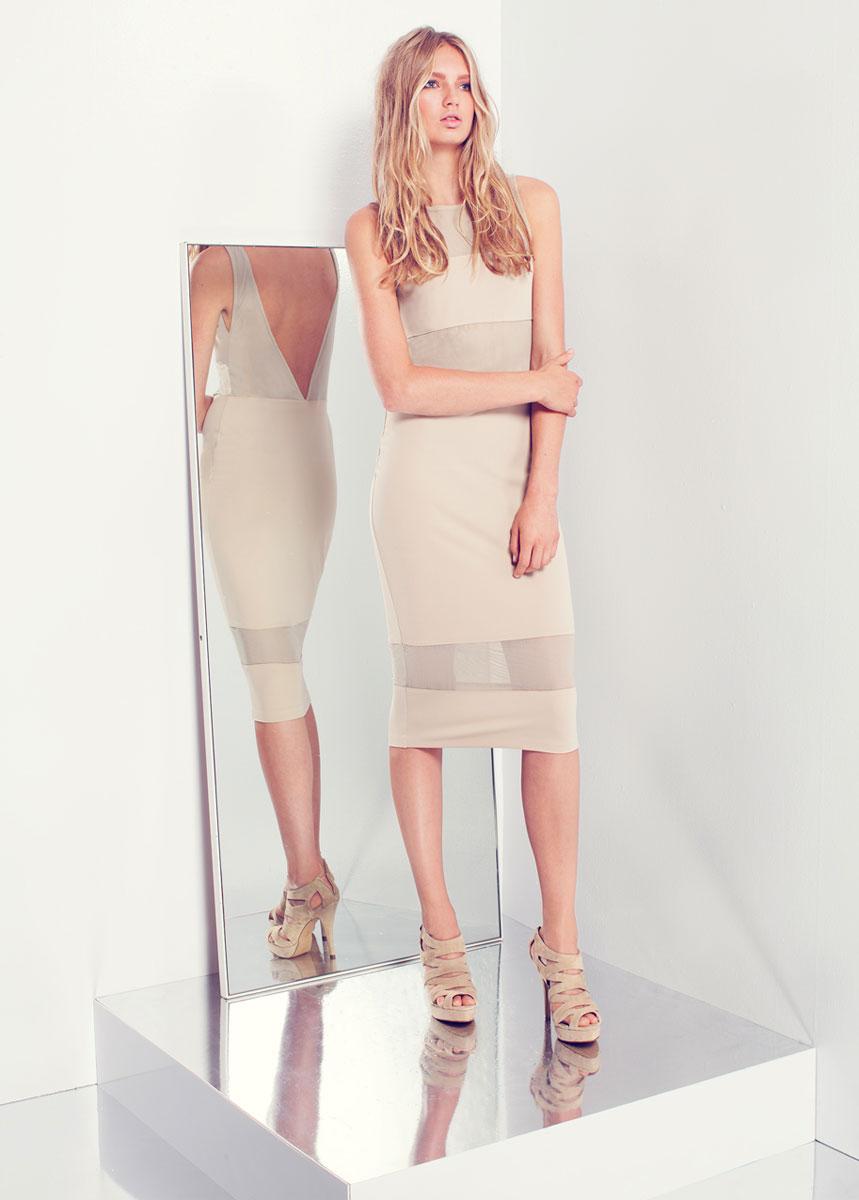 Платье SuperTrash, цвет: бежевый. CS13M176. Размер L supertrash длинное платье
