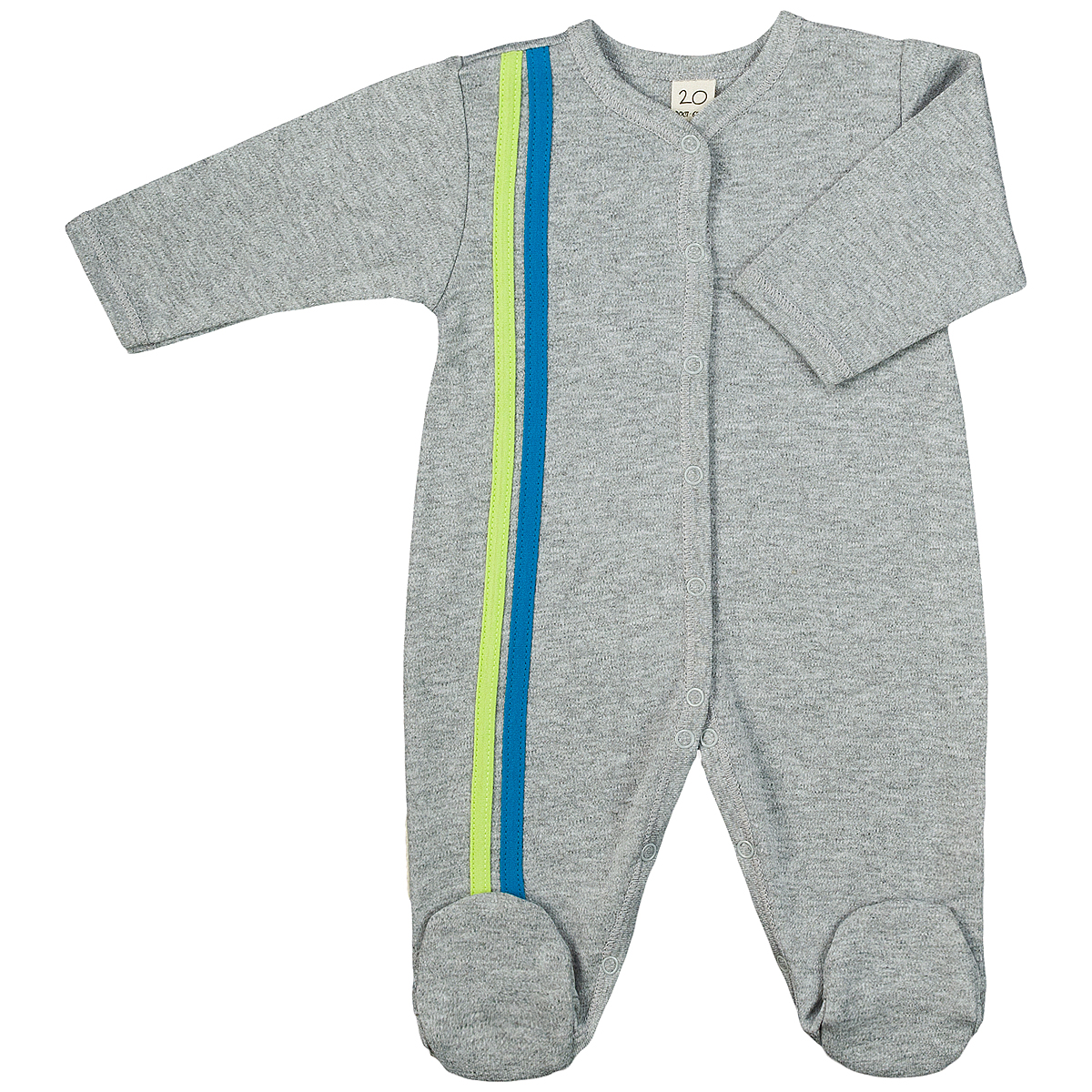 Комбинезон детский Lucky Child, цвет: серый, голубой. 1-1. Размер 50/561-1Детский комбинезон Lucky Child - очень удобный и практичный вид одежды для малышей. Комбинезон выполнен из интерлока - натурального хлопка, благодаря чему он необычайно мягкий и приятный на ощупь, не раздражают нежную кожу ребенка и хорошо вентилируются, а эластичные швы приятны телу малыша и не препятствуют его движениям. Комбинезон с длинными рукавами и закрытыми ножками имеет застежки-кнопки от горловины до щиколоток, которые помогают легко переодеть младенца или сменить подгузник. Отделкой служат лампасы контрастного цвета по боковому шву. С детским комбинезоном Lucky Child спинка и ножки вашего малыша всегда будут в тепле, он идеален для использования днем и незаменим ночью. Комбинезон полностью соответствует особенностям жизни младенца в ранний период, не стесняя и не ограничивая его в движениях!