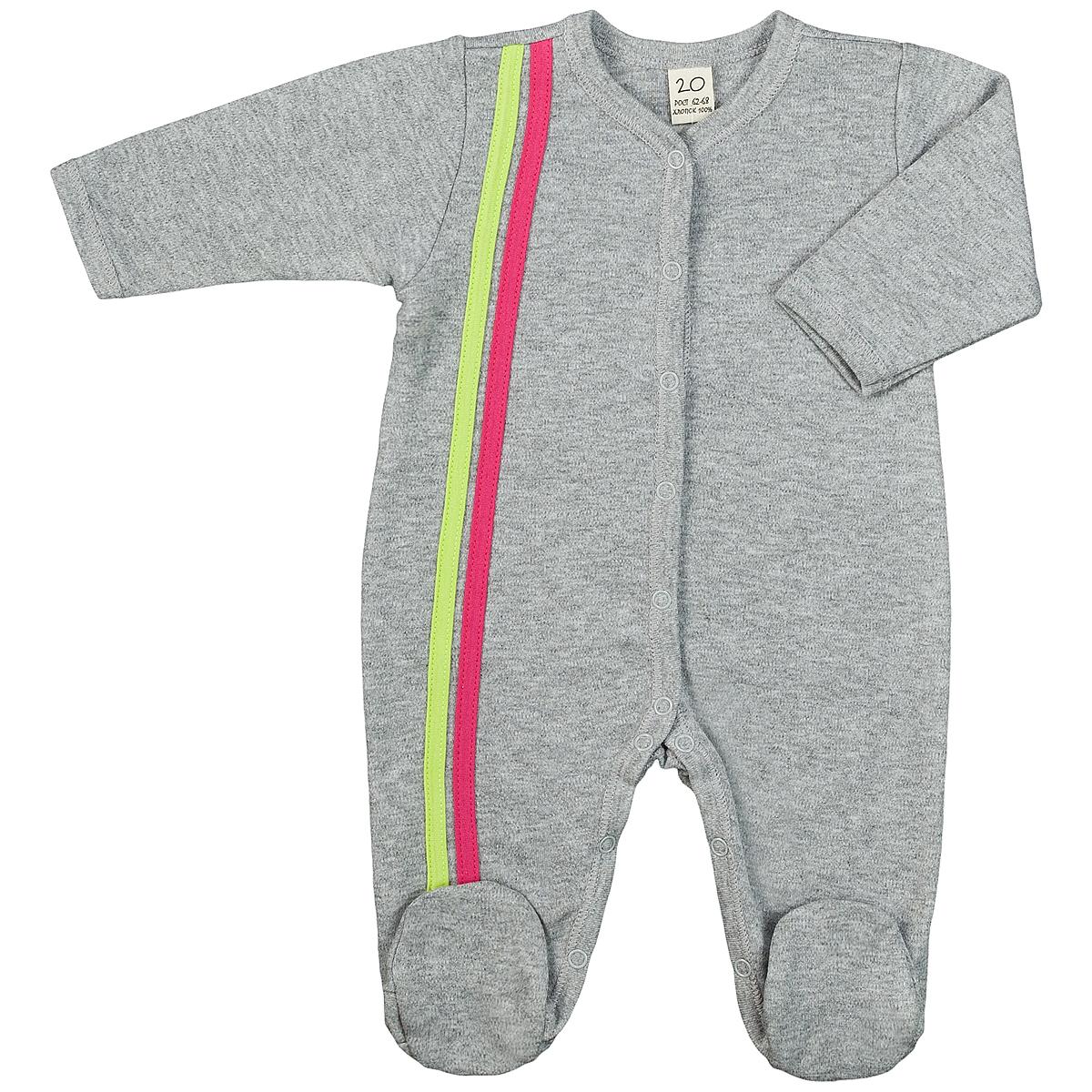 Комбинезон детский Lucky Child, цвет: серый, розовый. 1-1. Размер 74/801-1Детский комбинезон Lucky Child - очень удобный и практичный вид одежды для малышей. Комбинезон выполнен из интерлока - натурального хлопка, благодаря чему он необычайно мягкий и приятный на ощупь, не раздражают нежную кожу ребенка и хорошо вентилируются, а эластичные швы приятны телу малыша и не препятствуют его движениям. Комбинезон с длинными рукавами и закрытыми ножками имеет застежки-кнопки от горловины до щиколоток, которые помогают легко переодеть младенца или сменить подгузник. Отделкой служат лампасы контрастного цвета по боковому шву. С детским комбинезоном Lucky Child спинка и ножки вашего малыша всегда будут в тепле, он идеален для использования днем и незаменим ночью. Комбинезон полностью соответствует особенностям жизни младенца в ранний период, не стесняя и не ограничивая его в движениях!