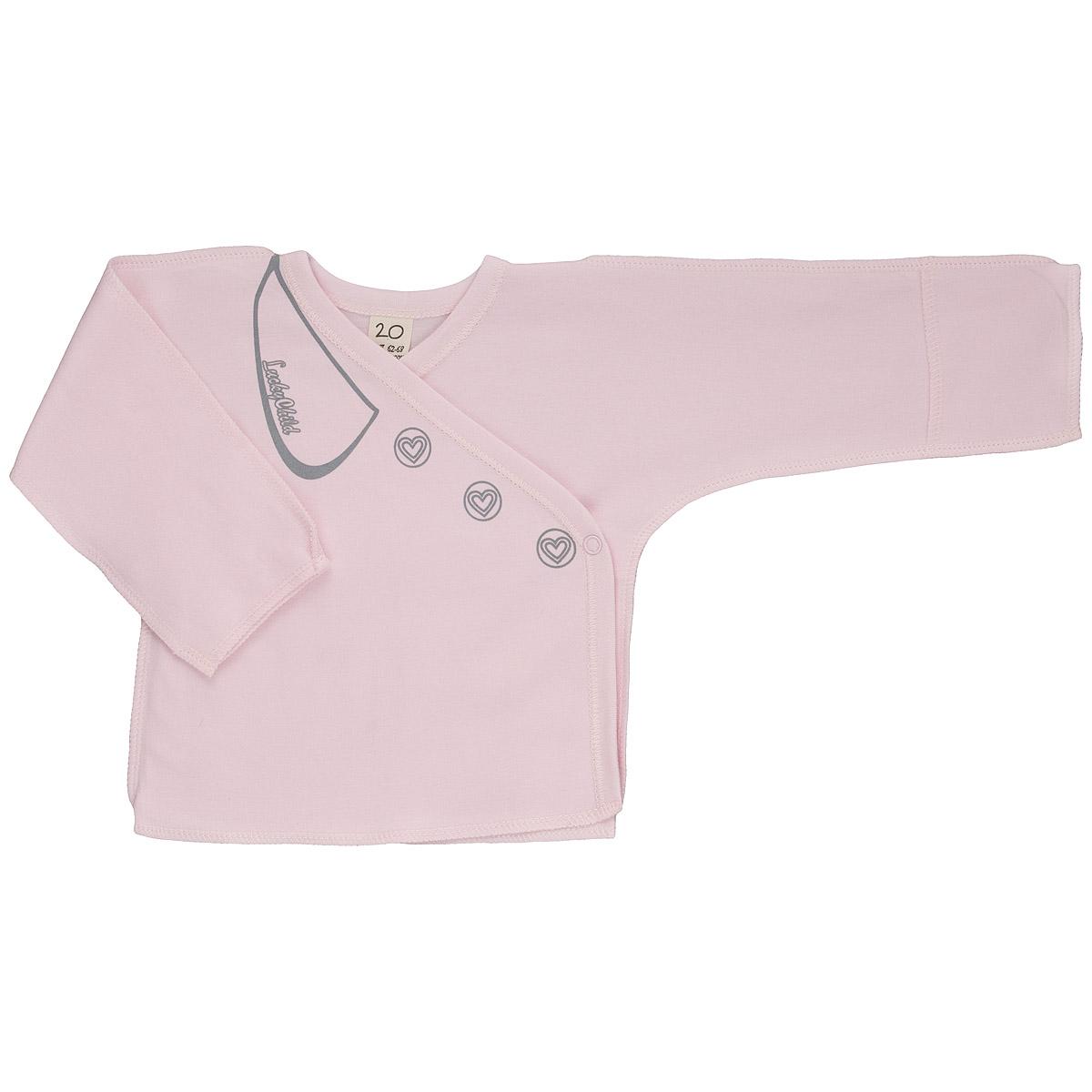 Распашонка для девочки Lucky Child, цвет: розовый. 2-7. Размер 62/68