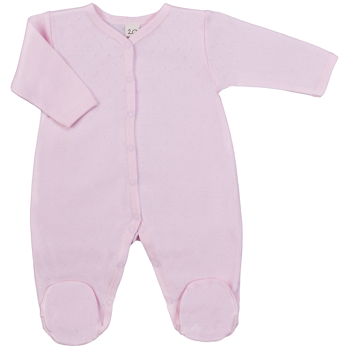 Комбинезон детский Lucky Child Ажур, цвет: розовый. 0-12. Размер 80/86