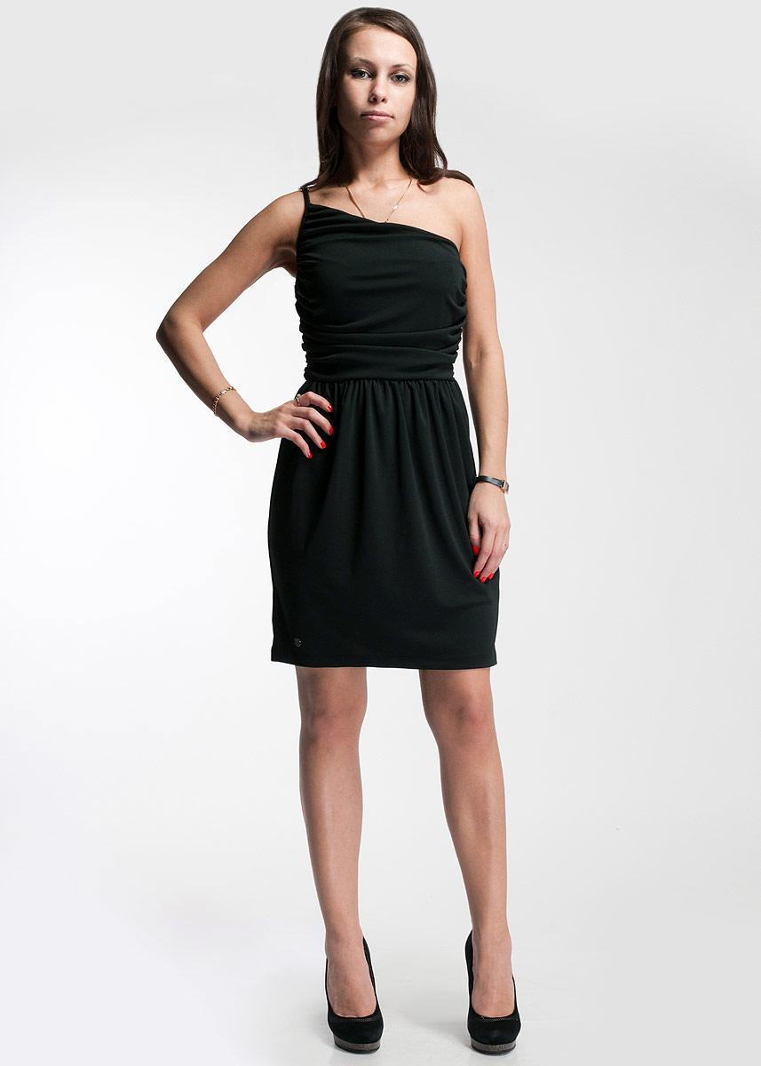 Платье SuperTrash, цвет: черный. CS13M178. Размер MCS13M178_001Стильное платье SuperTrash будет отлично смотреться на вас. Модель на одно плечо выполнена из высококачественного трикотажа. Сбоку застегивается на потайную застежку-молнию.Это платье идеальный вариант для вашего гардероба. В таком наряде вы безусловно привлечете восхищенные взгляды окружающих.