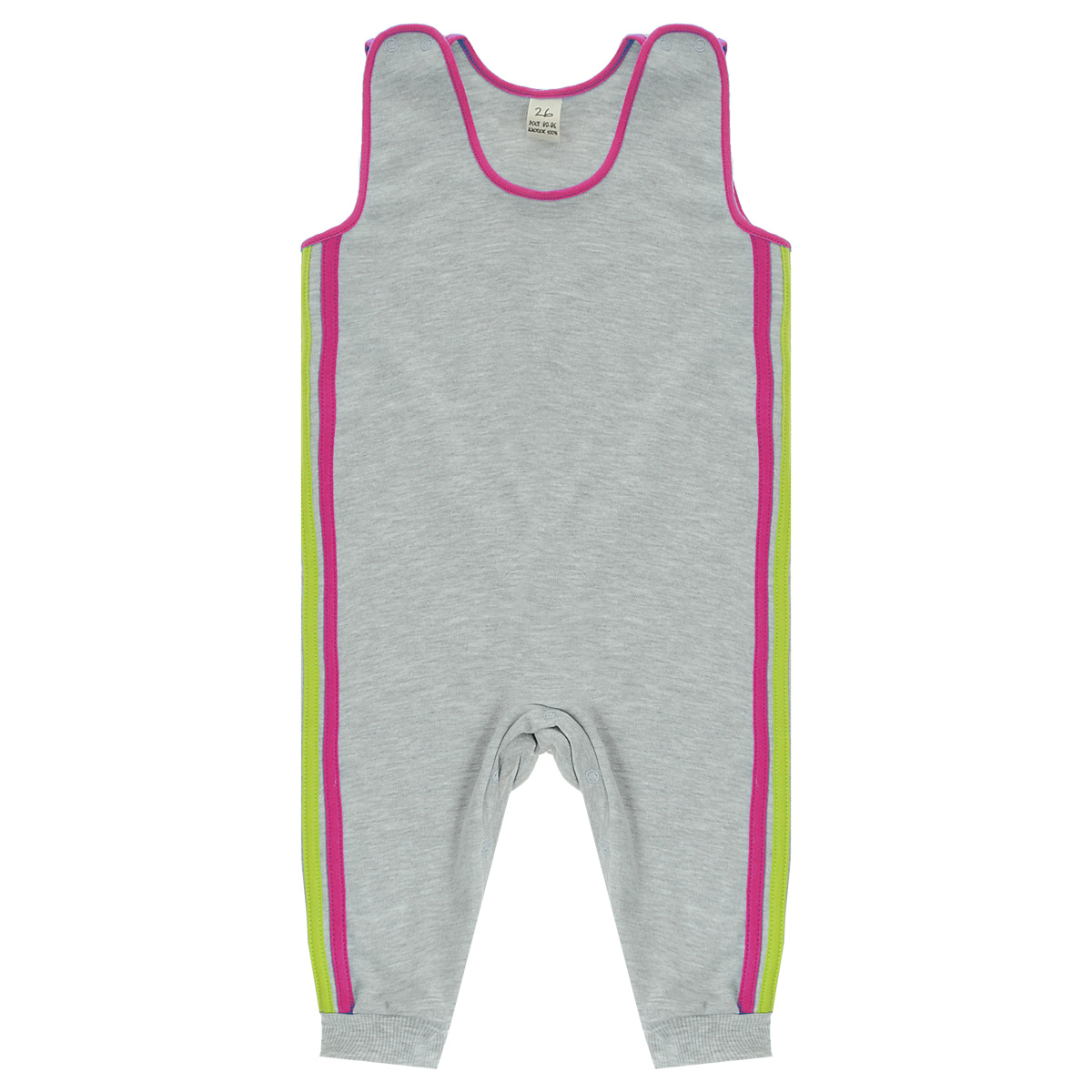 Ползунки с грудкой Lucky Child, цвет: серый, розовый. 1-15. Размер 74/801-15Ползунки с грудкой Lucky Child - очень удобный и практичный вид одежды для малышей. Они отлично сочетаются с футболками и кофточками. Ползунки выполнены из интерлока - натурального хлопка, благодаря чему они необычайно мягкие и приятные на ощупь, не раздражают нежную кожу ребенка и хорошо вентилируются, а эластичные швы приятны телу малыша и не препятствуют его движениям. Ползунки без ножек, застегивающиеся сверху на кнопки, идеально подойдут вашему малышу, обеспечивая ему наибольший комфорт, подходят для ношения с подгузником и без него. Кнопки на ластовице помогают легко и без труда поменять подгузник в течение дня. Отделкой служат лампасы контрастного цвета по боковому шву.Ползунки с грудкой полностью соответствуют особенностям жизни малыша в ранний период, не стесняя и не ограничивая его в движениях!