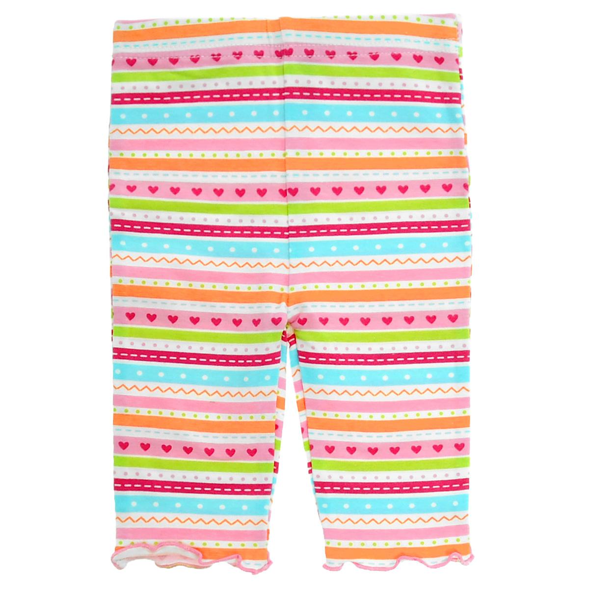 Леггинсы для девочки Luvable Friends Горошек, цвет: розовый, мультицвет. 32060. Размер 55/61, 0-3 месяца